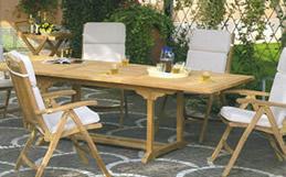 Tavoli da giardino cosma tavoli per esterno in teak - Panche e tavoli da esterno ...